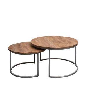 tafelsenstoelen.nl - Salontafels BR set van 2 Naturel