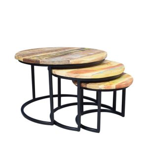 tafelsenstoelen.nl - Salontafels BR3 set van 3 Gekleurd