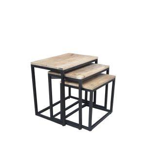 tafelsenstoelen.nl - Salontafels Brix set van 3 vierkant