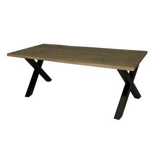 tafelsenstoelen.nl - boomstam tafel met x-poot